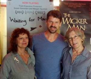 Executive Producer Susan Sarandon, Director & Producer Thomas Morgan, and Shine's Susan MacLaury at the Waiting for Mamu premiere August 23rd, 2013